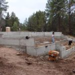 Laying the foundation of a house